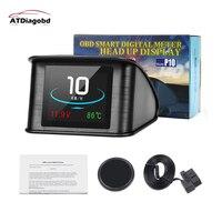 Hud-velocímetro Digital con GPS para coche, herramienta de diagnóstico OBD, con pantalla, consumo de combustible