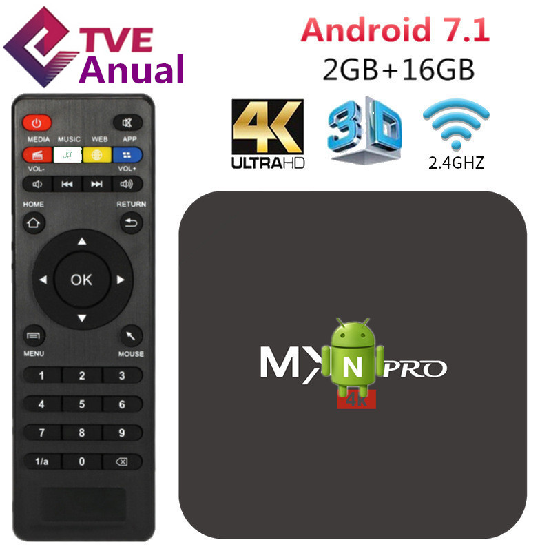 Android Smart TV <font><b>Box</b></font> RK3229 2G 16G TVBox WiFi 4K HD Media Player with 1 year TVE IPTV Subscription deliver from Sao Paulo Brazil image