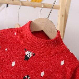 Image 5 - 2020 inverno das crianças roupas meninas camisolas casual impresso engrossar lã de malha do bebê menina pullovers camisola para menina crianças