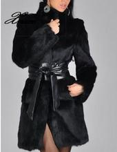Xnxee faux fur rabbit fur coat fur mink fur long coat winter women's clothing куртка кожаная aliance fur aliance fur mp002xw13q6k