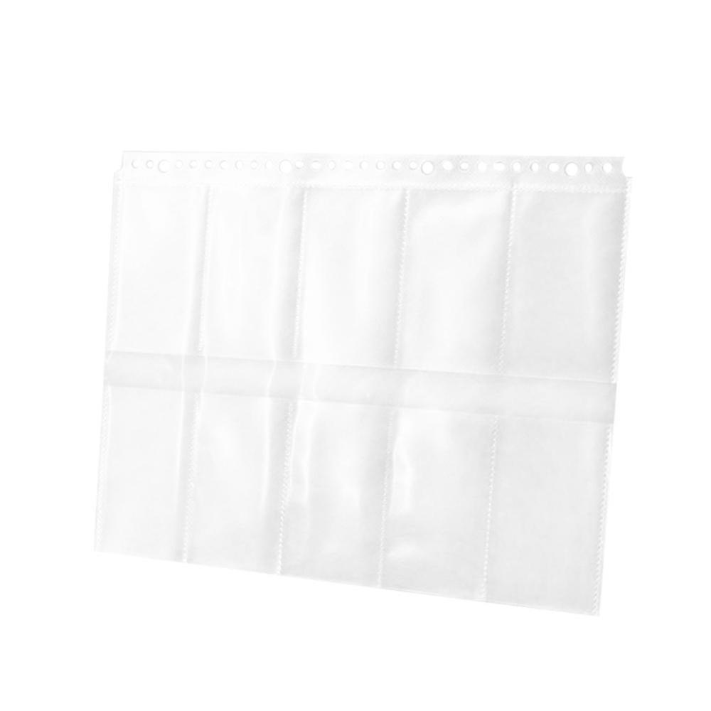 10PCS 30Holes Loose Leaf Clear File Sheets Protectors A4 Two Sides 100 Cards Collection Bag Spiral Binder Notebook Planner