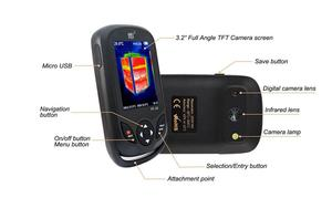 Image 3 - Cámara infrarroja térmica para exteriores, Pantalla TFT de mano, x 320 2019, actualización de HT A2 para caza al aire libre, 240