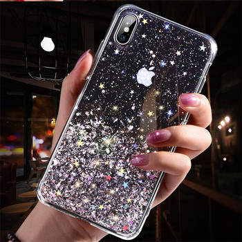 Luxury Bling Sequins Star Glitter Phone Case For iphone X XR 11 Pro XS MAX 6 6S 7 8 Plus Shining Transparent Soft TPU Cover Case полотенце shining star shining star mp002xu0e3y6