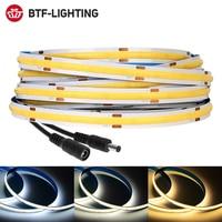 Taśma LED FCOB 360 528 diody Led wysoka gęstość elastyczny FOB COB światła LED RA90 ciepły charakter zimny biały liniowy ściemniania DC12V 24V