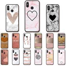 Babaite Love Heart Gold Rose silicone case for xiaomi mi a1 a2 lite redmi note 2 3 4 4x 5 5a 6 mobile phone accessories