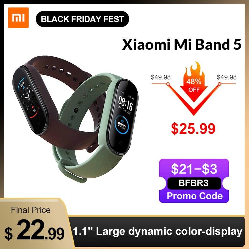 Smart Bracelet Fitness-Tracker Mi-Band Screen-Heart-Rate AMOLED Bluetooth In-Stock Xiaomi
