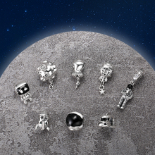 High Quality 925 Sterling Silver Rocket Shape Bead Charms Fit Original European Charm Bracelet Jewelry Making