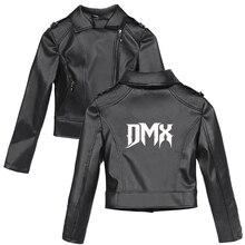 DMX PU Jackets for Women Crop Top Long Sleeve Slim Black Coats Faux Fur Coats Streetwear