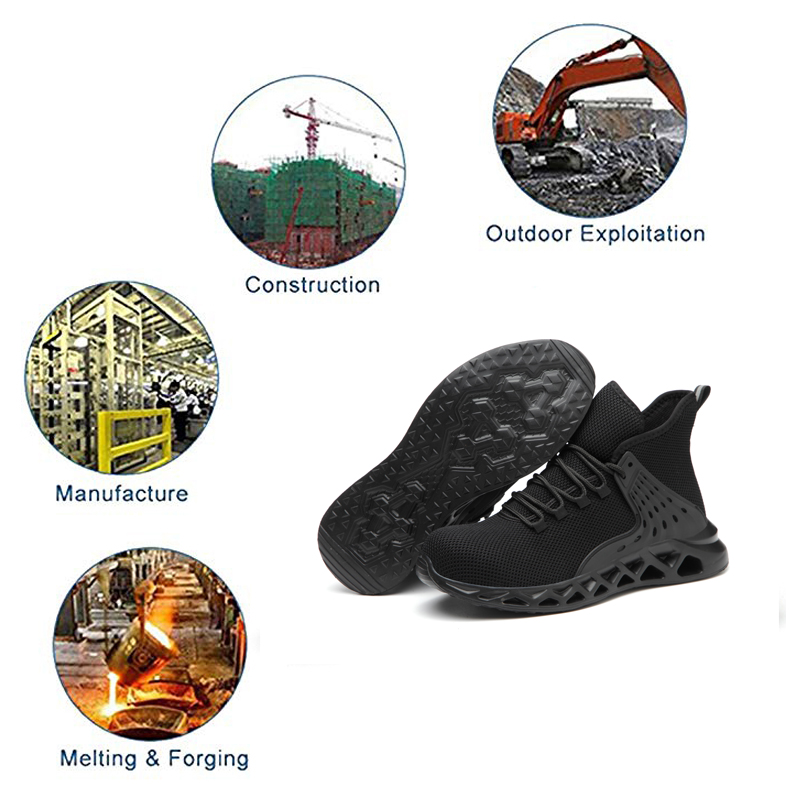 Closeout DealsSafety-Shoes Sneakers Shoe-Work-Boots Ryder Steel-Toe Breathable Indestructible Waterproof