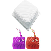 1PC Stocked Foodgrade silicone wave pillow cake mold mousse thickening white Italian pastry baking siliconeMould