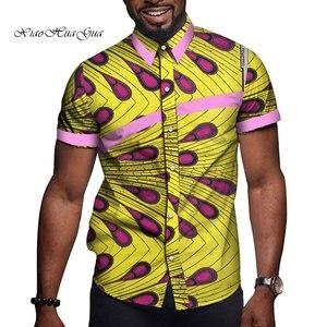 Image 2 - Африканская мужская одежда базин богатый принт Повседневная вечевечерние мужские топы с коротким рукавом футболки рубашка Дашики Анкара WYN714