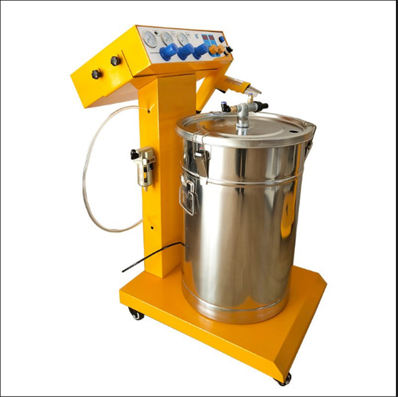 Portable Powder Paint Experiment System Electrostatic Powder Coating Machine  Powder Coating Test Gun Free Shipping