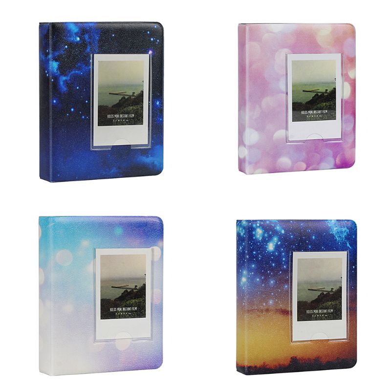 64 Pockets 3 Inch Starry Sky Photo Book Album For Fujifilm Instax Mini Films 9 8 7s 90 70 25 Name Card Holder image