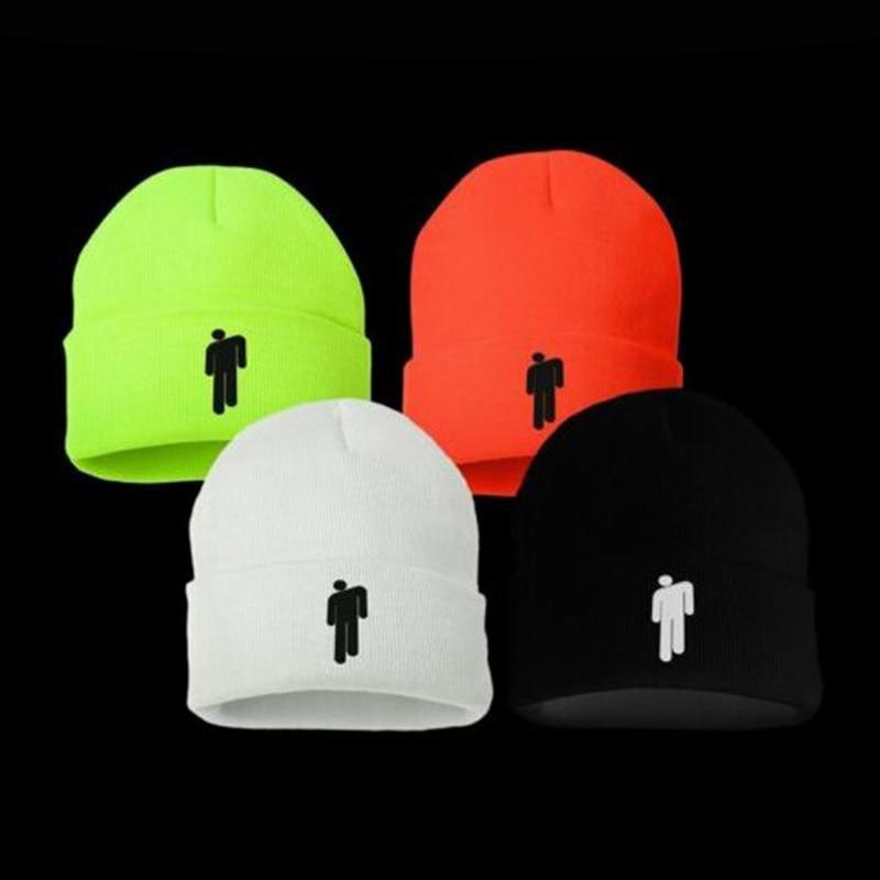 Billie Eilish Beanie Knitted Hats Unisex Solid Hip-hop Skullies Knitted Hat Fashion Outdoor Casual Sport Bone Gorras Cap Fans