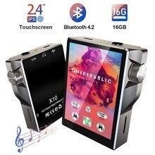 タッチスクリーンMP3プレーヤーbluetooth 16ギガバイトハイファイ音楽プレーヤー高解像度ロスレスウォークマンオーディオビデオ電子書籍ラジオ録音