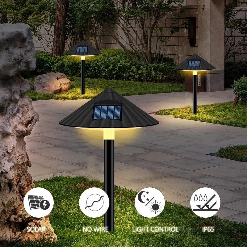 Outdoor Waterproof Solar Powered LED Garden Light Lawn Patio Pathway Landscape