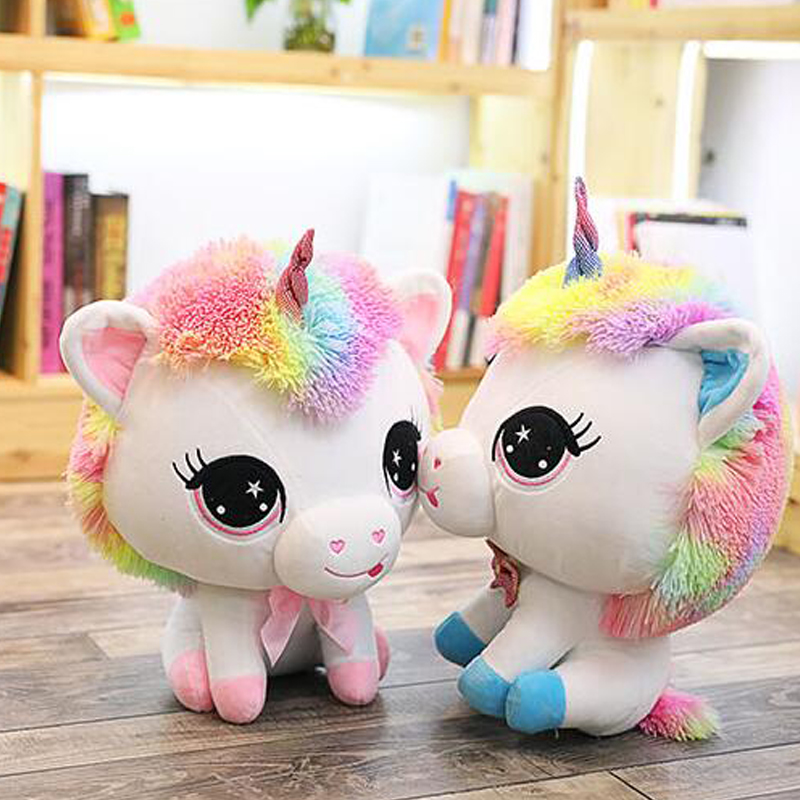 Plush Doll Unicorn Stuffed Soft Toy Animals 35CM Horse Stuffed Animal Cartoon Party Toys For Girl Super Cheap Just Shipping Cost
