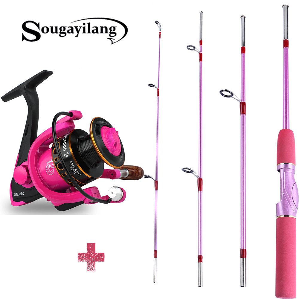 Sougayilang 155cm Spinning Fishing Rod And 12BB Spinning Fishing Reel for Outdoor Saltwater Freshwater  Fishing Rod Combo Pesca|Fishing Rods| |  - title=