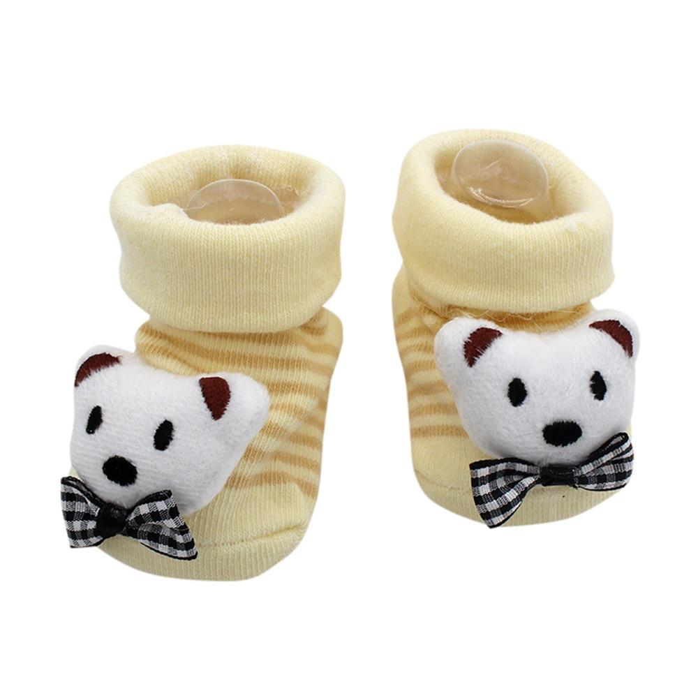 TELOTUNY Newborn Cartoon Baby Socks Cute Kids Baby Girls Boys Anti-Slip Winter Warm Socks Slipper Shoes Boots Warm Autumn Winter