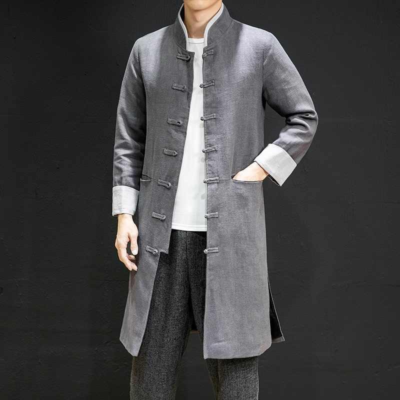 S-5Xl Nam Dài Tay Hào Trung Quốc Phong Cách Retro Điện Đơn Nam Kimono Kung Fu Nam Tiếng Phổ Thông Trung Quốc Áo Khoác KK3189