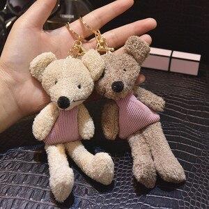 Chaveiro de pelúcia do rato dos desenhos animados bonito da boneca do rato chaveiro crianças brinquedo meninas pingente chaveiro bolsa feminina charme chave titular presentes bonitos