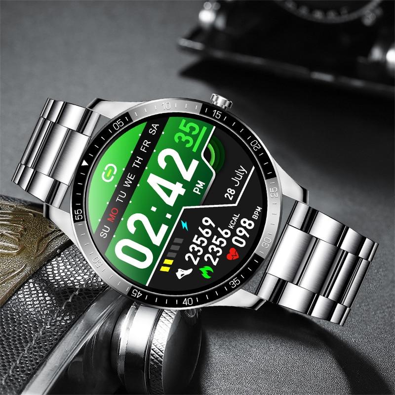 """LIGE New Smart watch Men waterproof 1.3"""" Full touch screen Sports Smart watch heart rate Fitness tracker Men Smart Watch Women 4"""