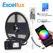 DC 12V MINI WIFI RGB/RGBW/RGBWW LED Strip 5050 LED ไฟกันน้ำ Magic Home APP alexa Google / 24Key IR RGB Strip