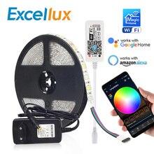 Dc 12V Mini Wifi Rgb/Rgbw/Rgbww Led Strip 5050 Led Flexibele Licht Waterdicht Magic Home App alexa Google / 24Key Ir Rgb Strip