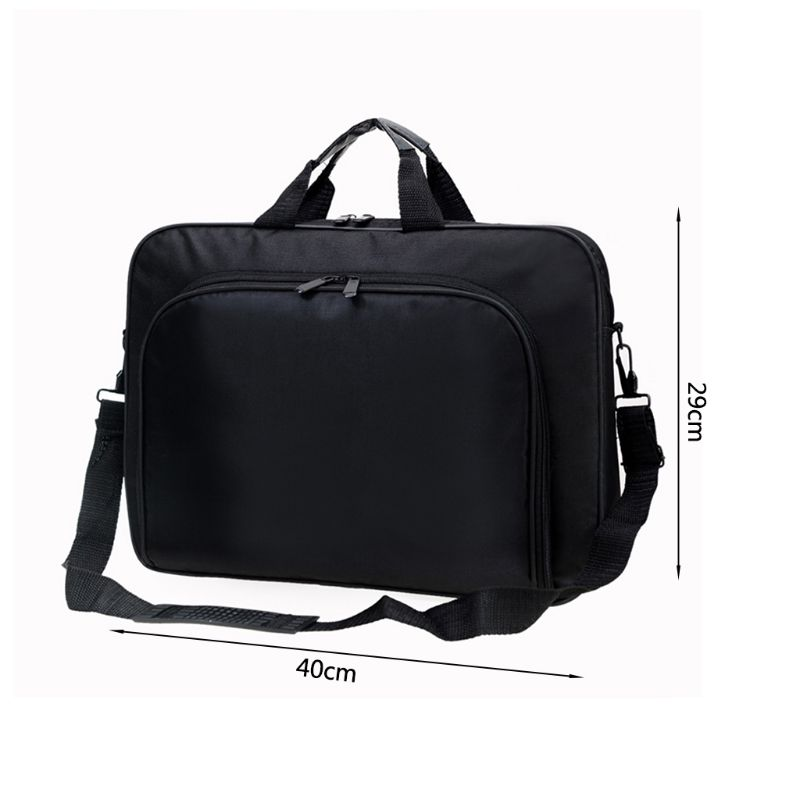 Briefcase Bag 15.6 Inch Laptop Messenger Bag Black Business Office Bag Computer Handbags Simple Shoulder Bag for Men Women 15