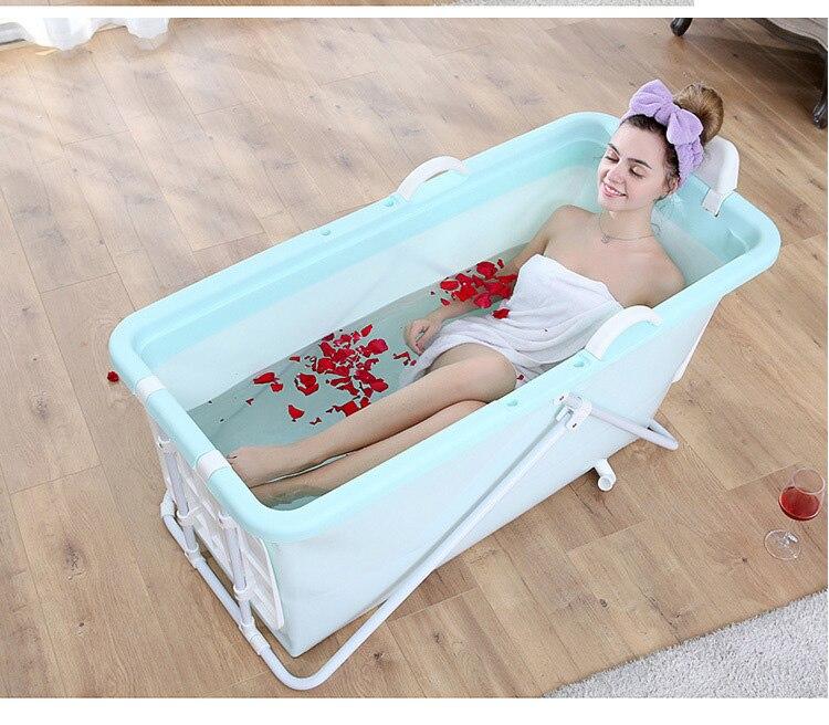 Adulto banheira dobrável tambor de banho corpo