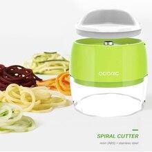 Регулируемая спиральная Терка 4 в 1, резак для салата, ручной спиральный измельчитель для овощей и фруктов, лапша из цуккини, устройство для и...