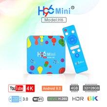 H96 Mini H6smart TV Box 4G128G media Player Quad Core H.265 Wifi HD Google Player Youtube 4K Set top box Android boxes HDMI 2.0 h96 mini android 7 1 tv box amlogic s905w quad core 2gb 16gb wifi bluetooth 4 0 h96 mini h 265 hd 4k set top box media player