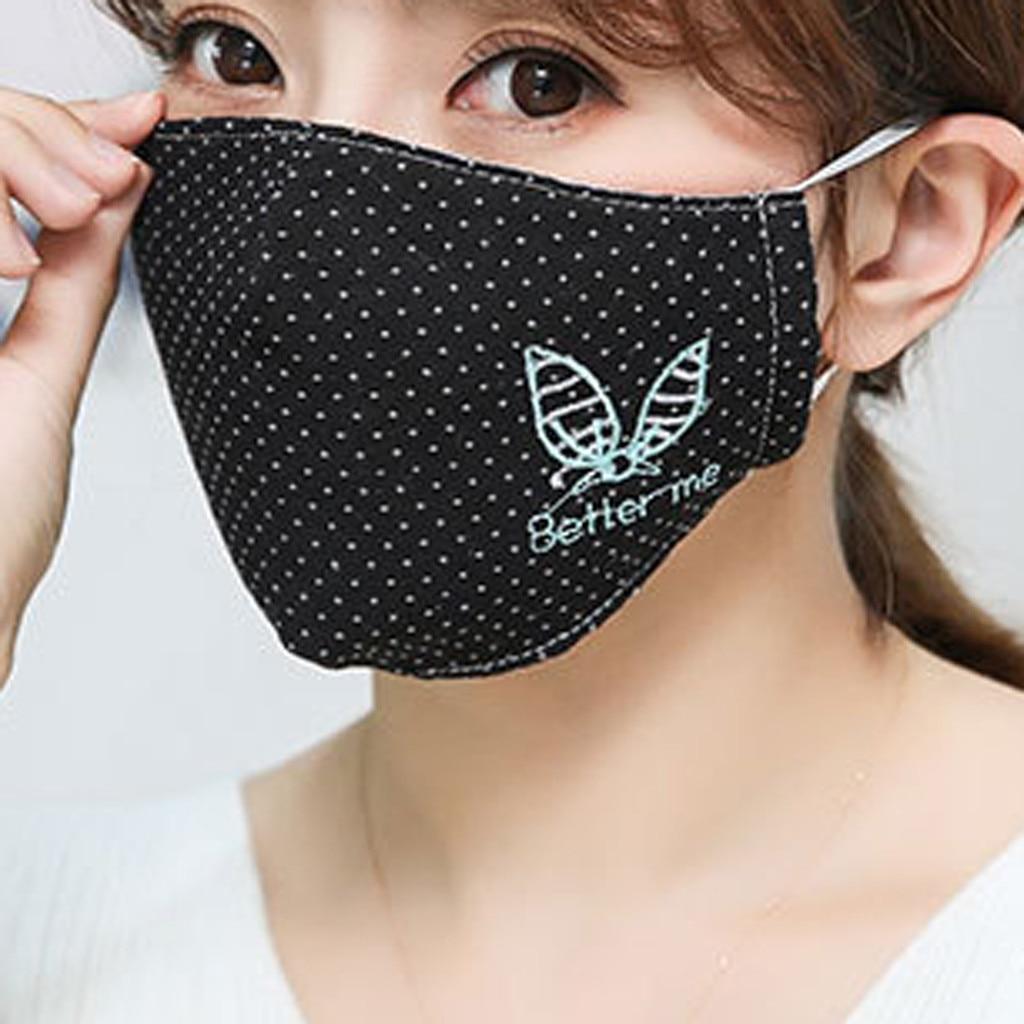 Hd5d0f4bee6044528ba5cd572b270bdaeJ Kawaii Maska Women Cotton Print Facemask Outdoor Riding Quick-drying Dustproof Keep Warm Mask