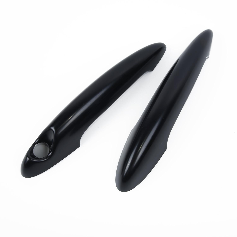 Color : Black Rumors Gloss Black Carbon Fiber Car Door Handle Cover Fit For BMW MINI Cooper S R50 R52 R53 R55 R56 R57 R58 R59 R61 Car Handle Cover