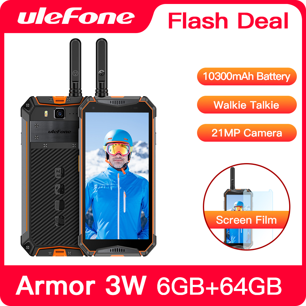 Ulefone Armor 3WT IP68 Rugged Smartphone Android 9.0 5.7