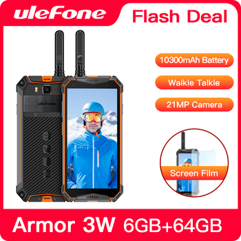 "Ulefone Armor 3WT IP68 Rugged Smartphone Android 9.0 5.7"" Helio P70 6G+64G 10300mAh Cell Phone 4G 21MP NFC Mobile Phone Android"