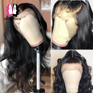 Image 4 - 360 Lace Frontal Wig Brazilian Body Wave Wig 13x4 Lace Front Human Hair Wigs For Black Women Mstoxic Remy Hair 4x4 Closure Wigs