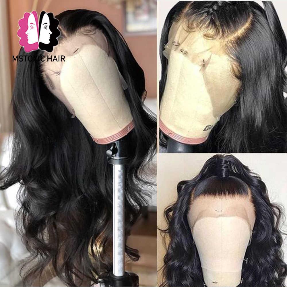 360 koronki Frontal peruka brazylijski peruka Body Wave 13x4 13x6 koronki przodu włosów ludzkich peruk dla czarnych kobiet Mstoxic peruki z włosów typu Remy
