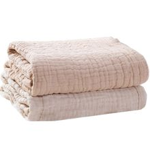Blanket Quilt Baby Cotton Infant Muslin 6-Layers Swaddle-Wrap Bed-Cover Receiving Warm