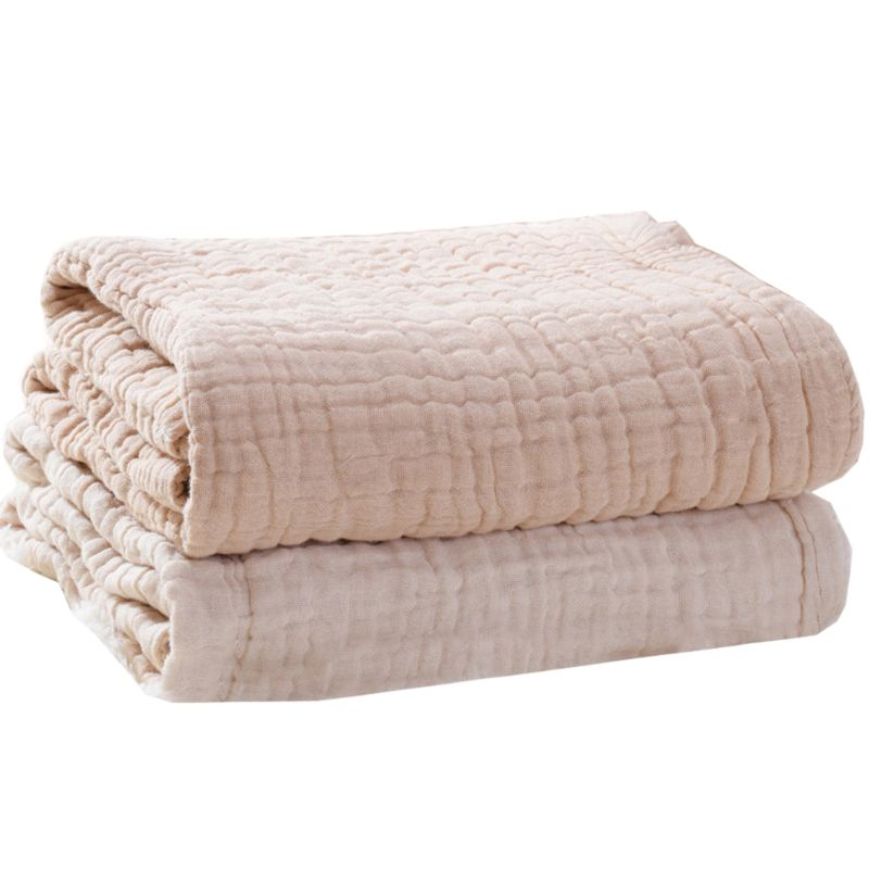 6 Layers Cotton Baby Receiving Blanket Infant Kids Swaddle Wrap Blanket Sleeping Warm Quilt Bed Cover Muslin Baby Blanket