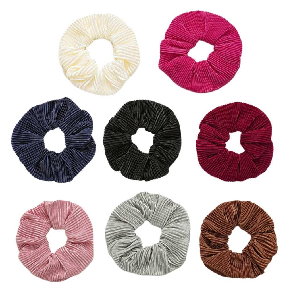 9-Pack Stof Haar Banden, Elastische Rubber Bands Haarbanden Paardenstaart Vlecht Haarband Voor Meisjes, Vrouwen