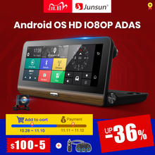 """Junsun E31P برو جهاز تسجيل فيديو رقمي للسيارات كاميرا 4G ADAS 7.80 """"أندرويد OS لتحديد المواقع الملاح مسجل فيديو كاميرا التسجيل الخاصة بالسيارات مع اثنين من الكاميرات mormirror"""
