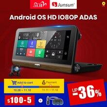 """Junsun E31P Pro Car DVR Camera 4G ADAS 7.80"""" Android OS GPS Navigator Registrar Video Dash Cam Recorder with two cameras morror"""