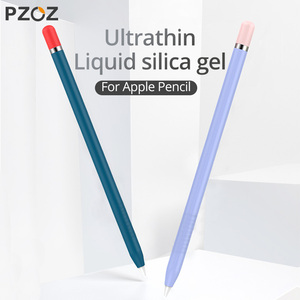 PZOZ Silicone Sleeve for Apple Pencil 1 Cover protective case Silica gel Colorful For iPad Tablet Touch Pen Stylus(China)