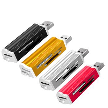 Kolorowe wszystko w 1 karta pamięci SD czytnik do pendrive Pro Duo Micro SD czytnik kart T-Flash karta pamięci flash czytanie tanie i dobre opinie Erilles Zewnętrzny CN (pochodzenie) Wszystko w 1 Wiele w 1 Karta TF LACH-READ-04