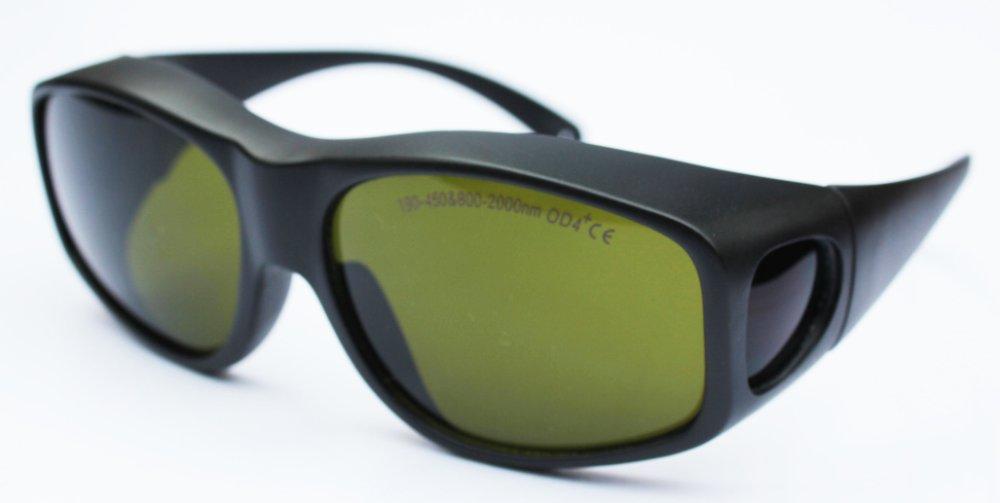 gafas de seguridad con láser para 190-450 nm y 800-2000 nm Densidad óptica 5+ 266 355 nm 405 445 450 808 810 980 1064 nm Con estilo 9,