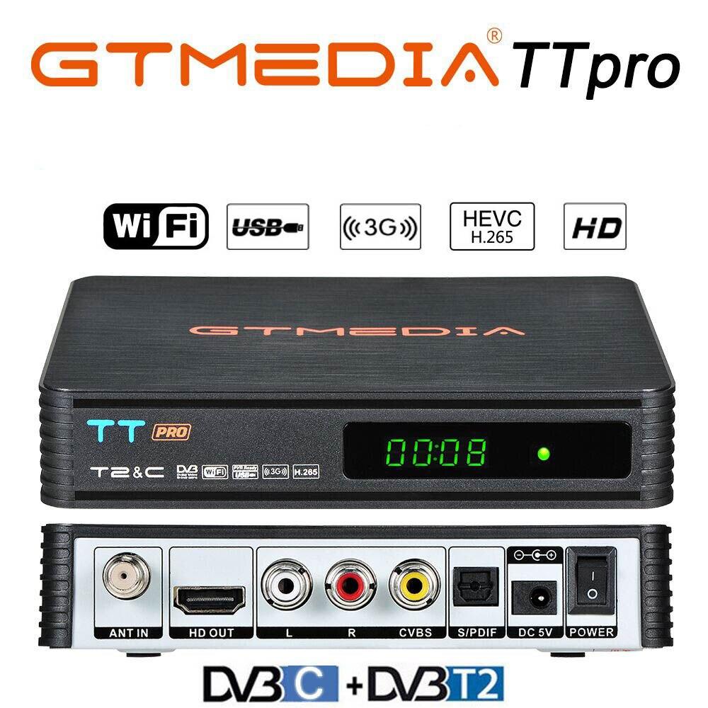Receptor y sintonizador de televisión Digital TT PRO, decodificador de televisión DVB-T H.264, con WIFI, HD, 1080P, Youtube, ruso, DVB-C