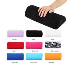 10 colores reposa mano suave lavable mano cojín esponja almohada soporte brazo reposa uñas arte pequeña manicura mano reposa almohada cojín