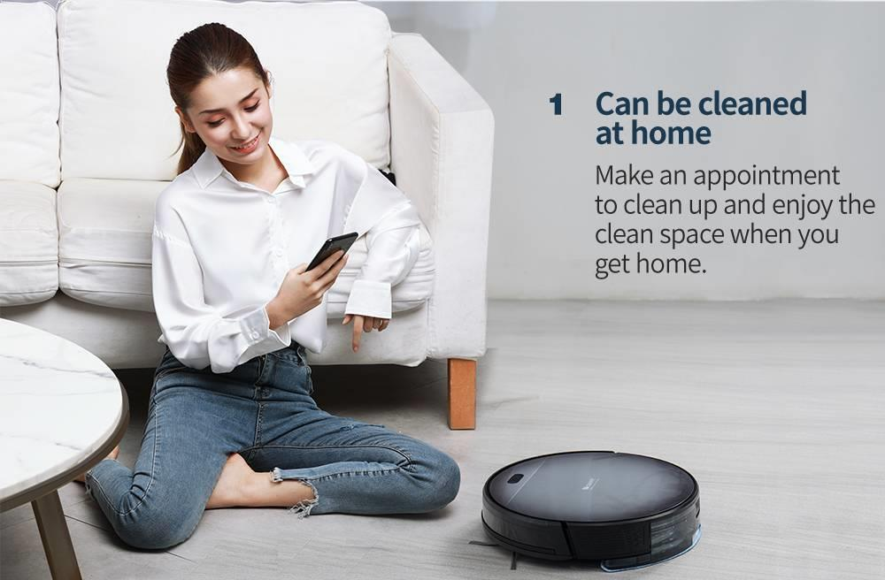 Hd5d1bceae1044318962a639e16d063ed4 Proscenic 800T Robot Vacuum Cleaner Automatic Sweeping Dust Mopping Mobile App Remote Control Planned Robotic