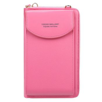 wallet women Diagonal PU multifunctional mobile phone clutch bag Ladies purse large capacity travel card holder passport cover 9